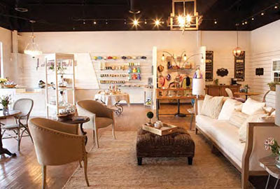 A photo taken inside of Lavender Hill Designs' store in Mount Pleasant